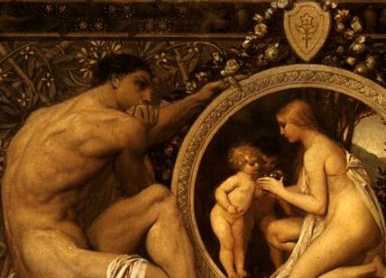 Idylle (detalle) G. Klimt 1884