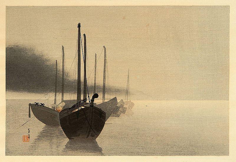 Watanabe Shotei, Botes en la niebla