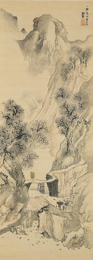 Landscape with a SolitaryTraveler. Yosa Buson (circa 1870)